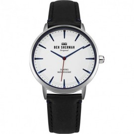 Ben Sherman Mens Analogue Classic Quartz Watch with Leather Strap WB020B - Мъжки часовник